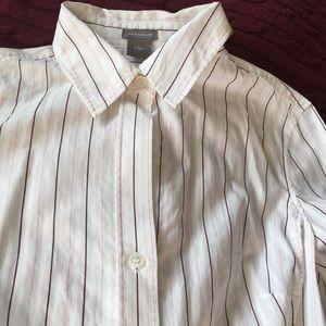 Ann Taylor woman's long sleeve button up shirt